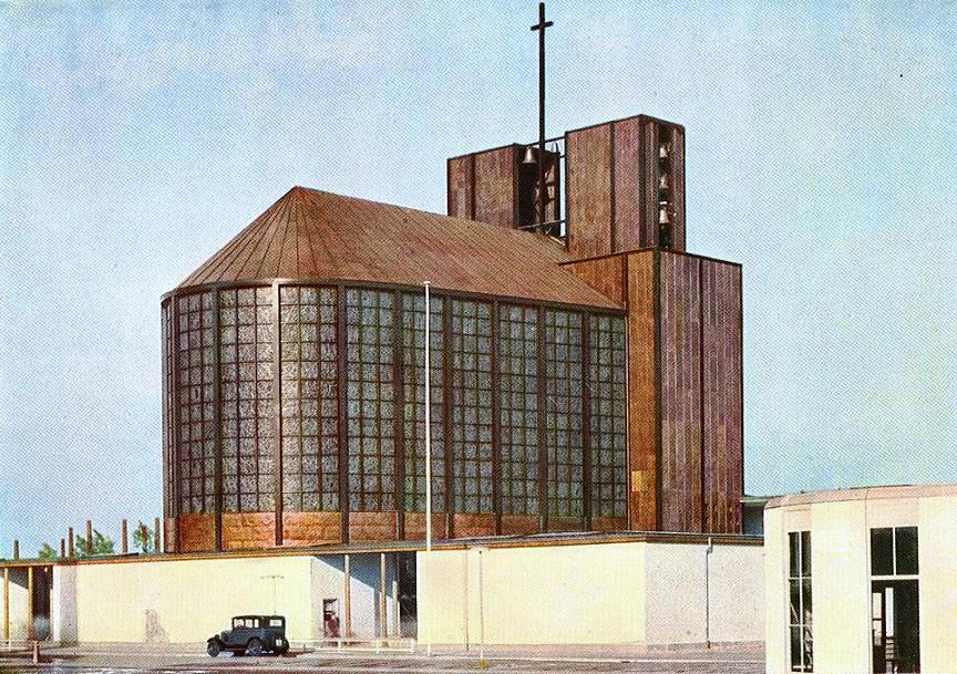 Stahlkirche auf der Ausstellung Pressa, Köln, 1928