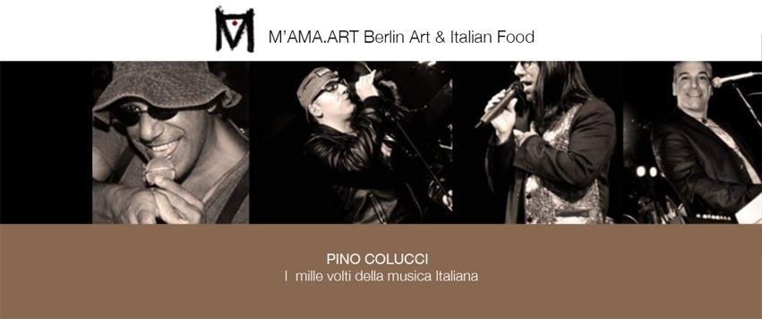 """Aperitivo in Concerto con Pino Colucci""""  M'AMA.Art  Berlin Art & Italian Food"""