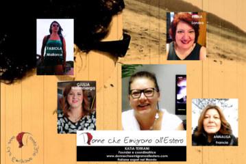 Intervista a Katia Terreni,Founder e coordinatrice di  Donne che Emigrano all'Estero