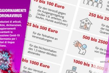 Il catalogo delle multe Corona Virus:  saranno possibili sanzioni fino a 10.000 Euro